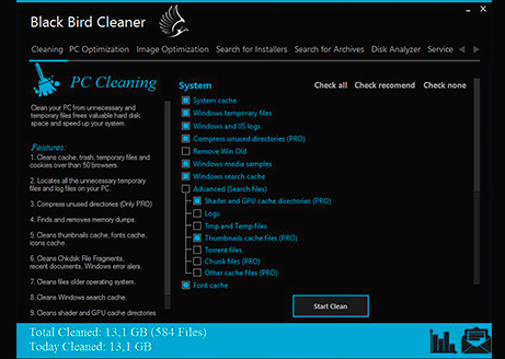 Black Bird Cleaner, una herramienta ligera para optimizar tu Windows